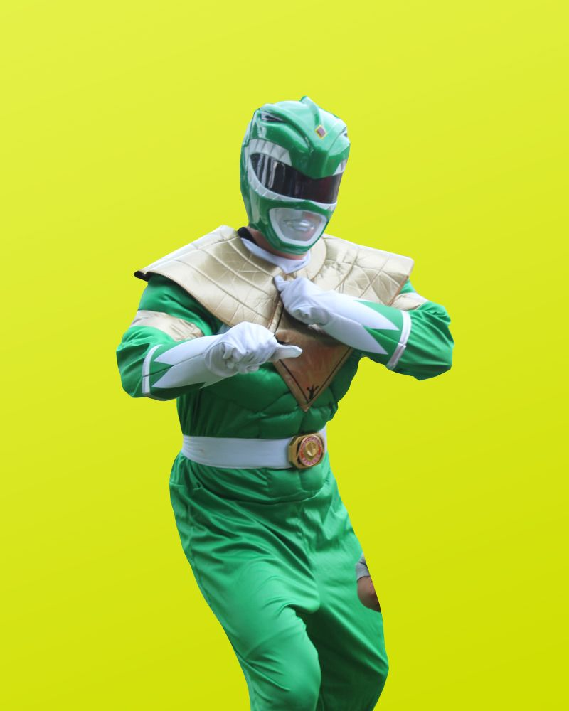 Green Ranger - Power Rangers Party Character | Kealoha Events